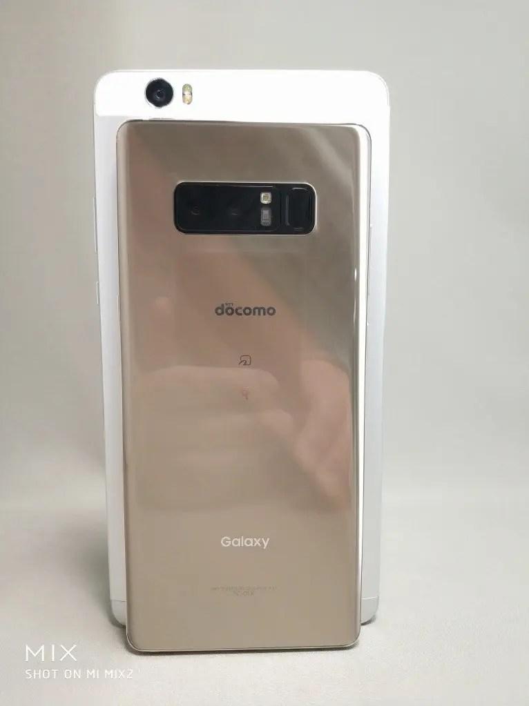 6インチ台16:9Huawei honor note 8 VS 18:9 Galaxy note 8・OnePlus 5Tとサイズ比較 重ね
