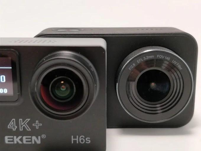 EKEN H6s EIS サイズ比較 レンズ