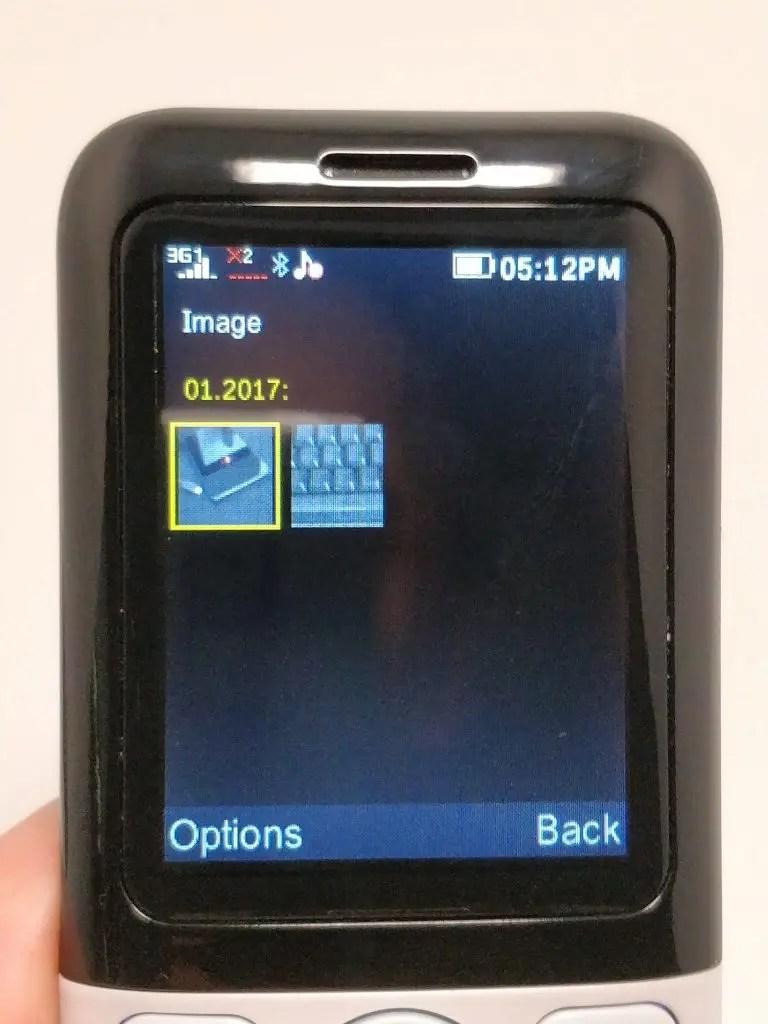 Samgle 3310 X 3G カメラ フォルダ