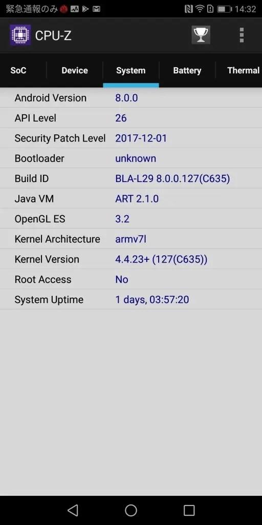 Huawei Mate 10 Pro CPU-Z3