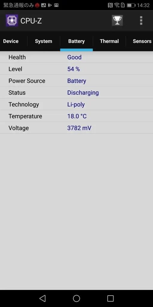 Huawei Mate 10 Pro CPU-Z4