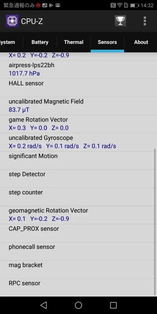 Huawei Mate 10 Pro CPU-Z7