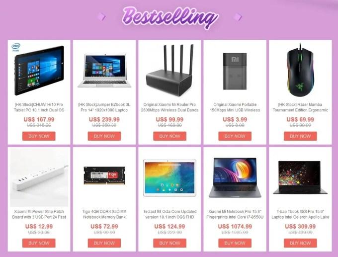 【GeekBuying】2018春節 中華タブレット・アクセサリー セール1