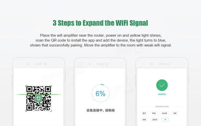 Xiaomi Pro 300Mbps Wifi(無線LAN)中継機 ペアリング完了