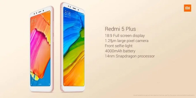 Xiaomi Redmi 5 Plus 商品画像