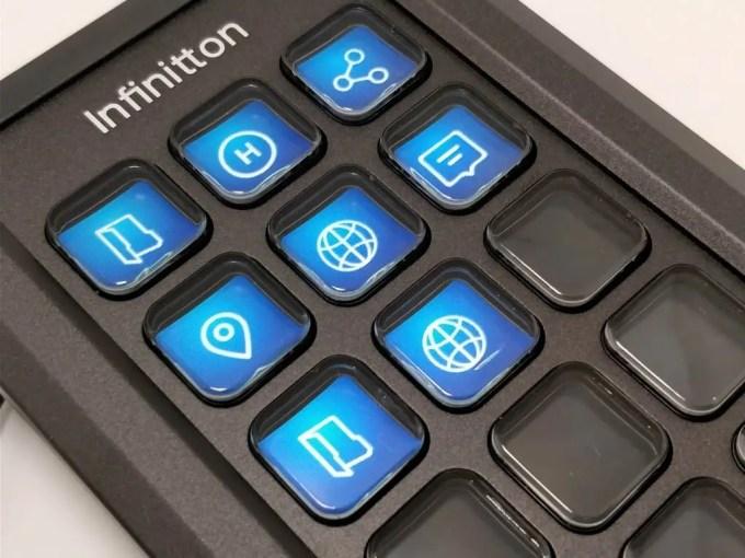 Infinitton 液晶キーボード アプリアイコン ズーム