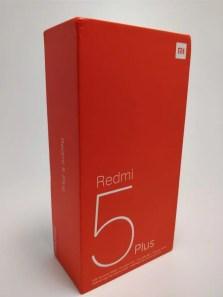 Xiaomi Redmi 5 Plus 化粧箱 斜め