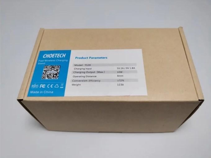 CHOETECH スタンド型Qiワイヤレス充電器 化粧箱