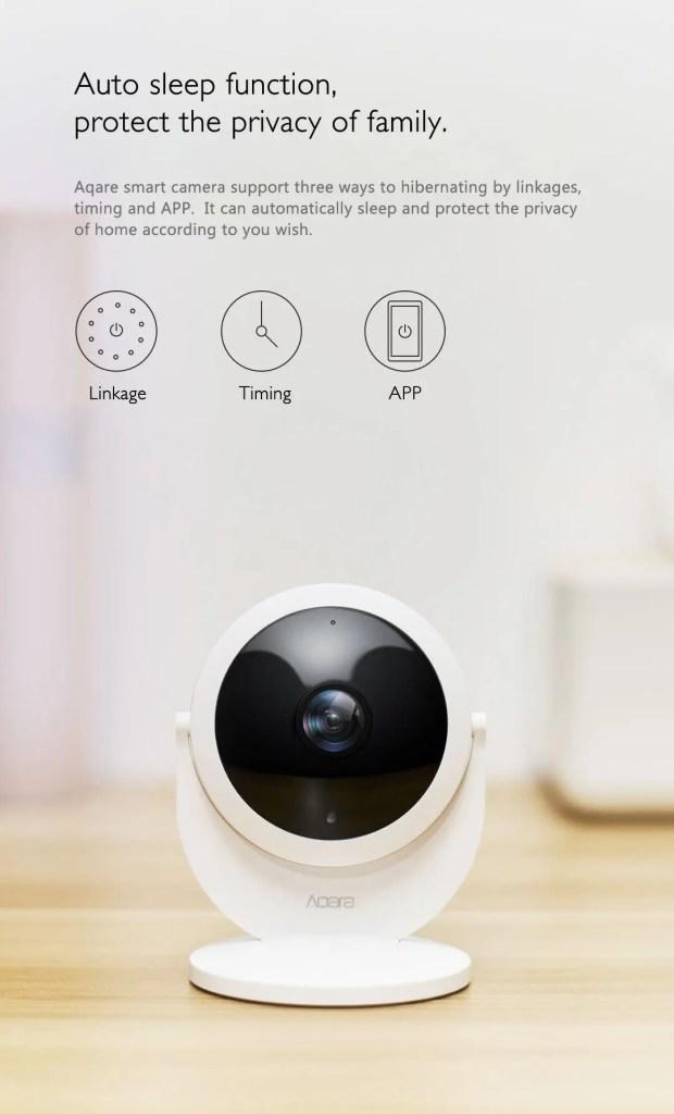 Xiaomi Mijia Aqara 180度HD IPカメラ スリープ