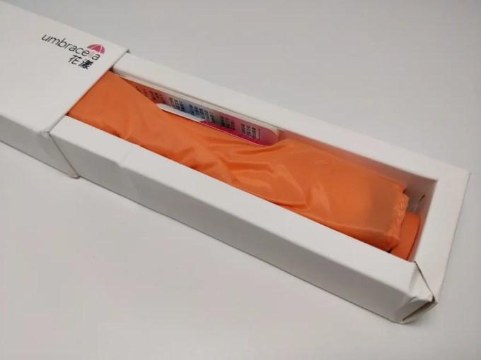 Xiaomi カーボン ウルトラライト アンブレラ  化粧箱 オープン