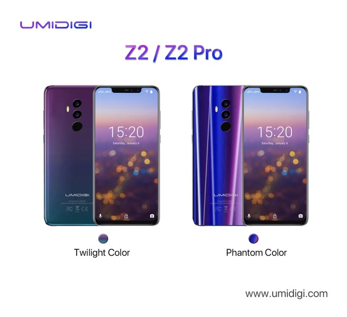 UMIDIGI Z2・Z2 Pro