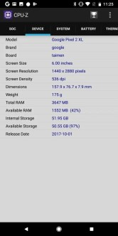 Pixel 2 XL CPU-Z3