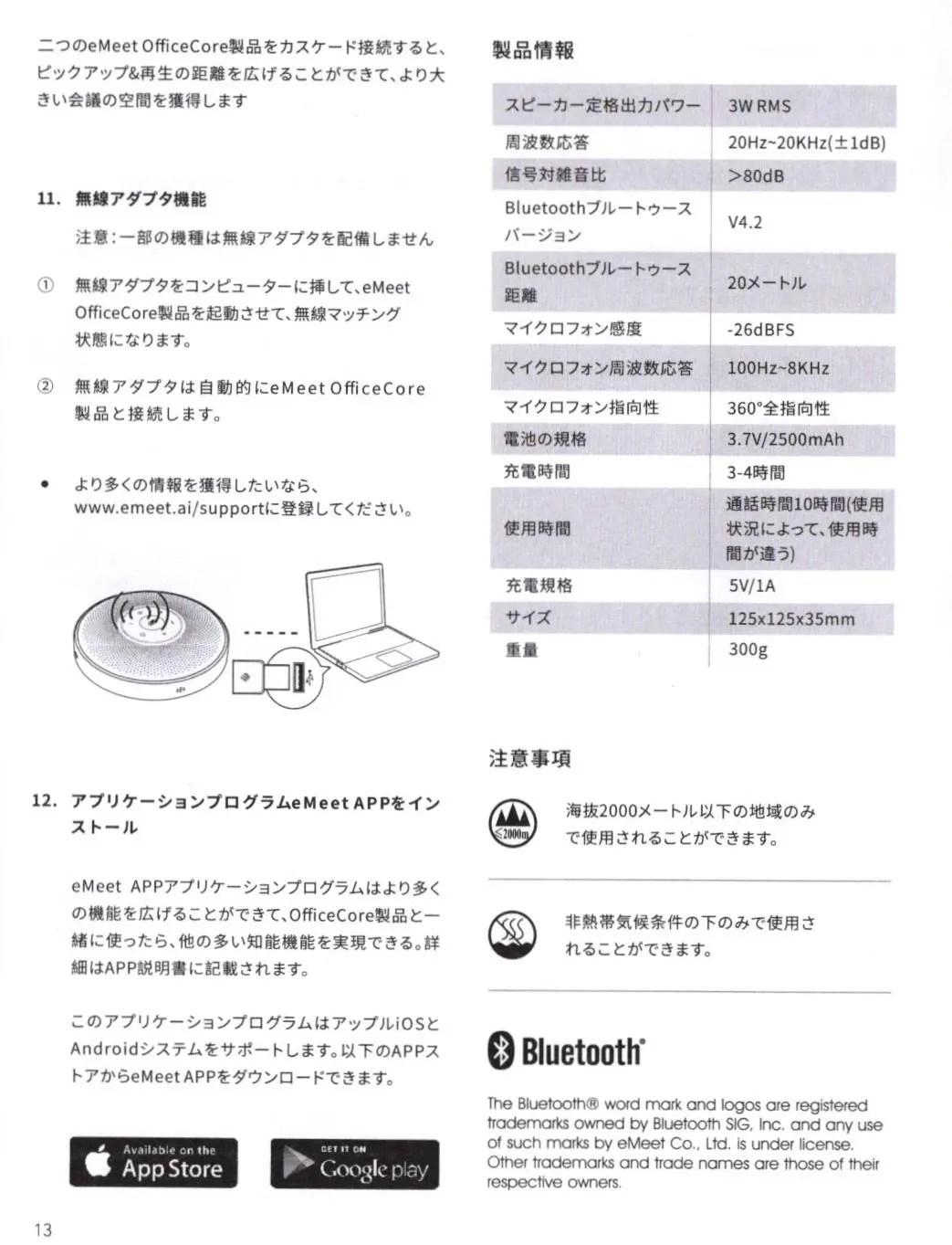 eMeet M2 取説6