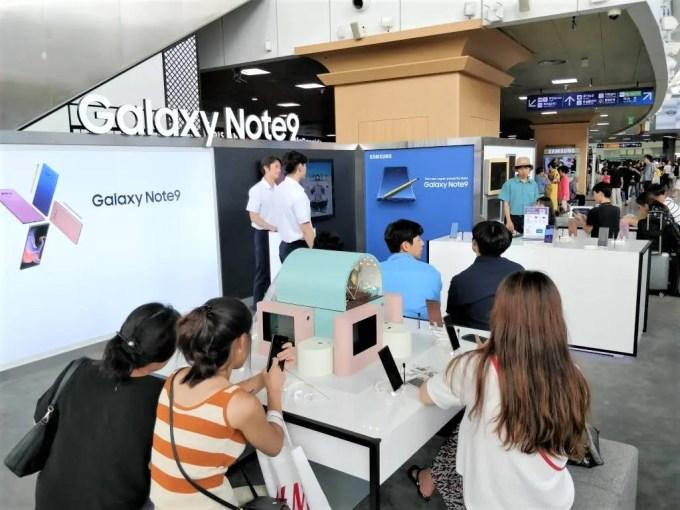 Galaxy note 9 ソウル駅2