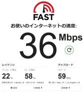 Fast スピードテスト36