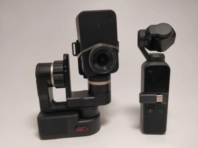 DJI Osmo Pocket Vs Feiyu Tech WG2+Xiaomi Mini Camera ジンバル比較2