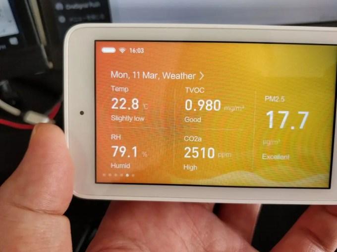 Xiaomi Mijia 空気テスター 二酸化炭素