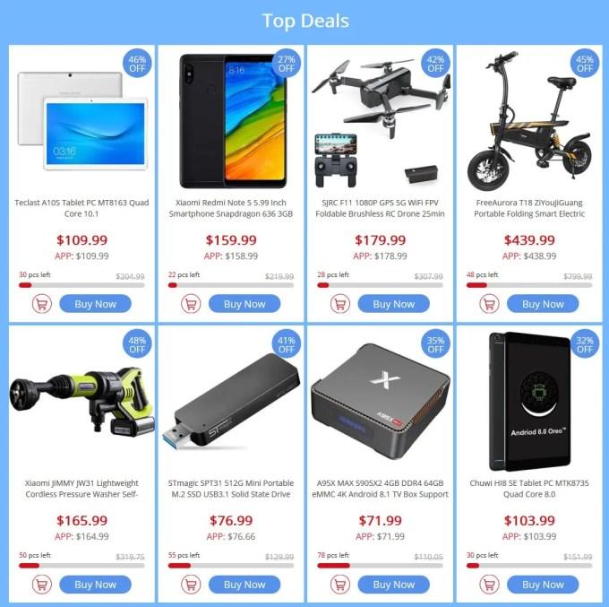 GeekBuying マーチメガセール 最大70%オフ  Top Deals