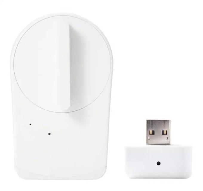 セサミ mini スマートロック本体 パールホワイト + Wi-Fiアクセスポイント