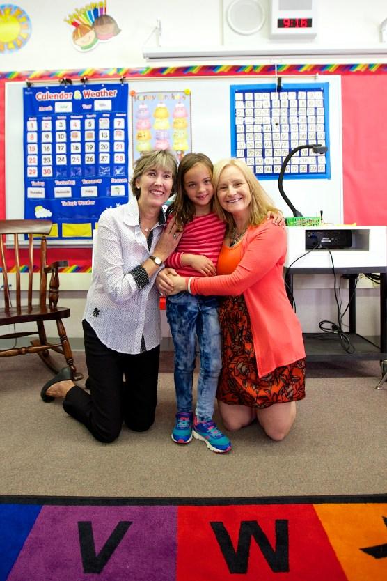 Mrs. Hoss, Ava, and Mrs. Barnes