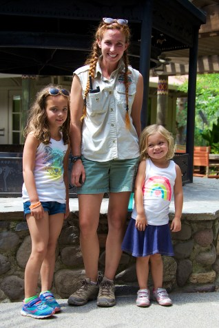 the girls with our guide
