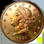 Gold Double Eagle Coin