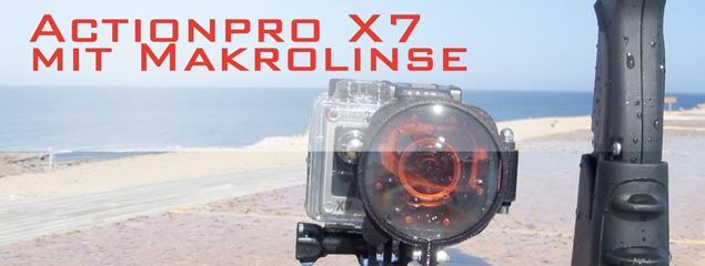 Makrolinsen-Set für Actionpro X7 getestet