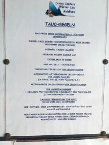 MY Sheena Tauchregeln