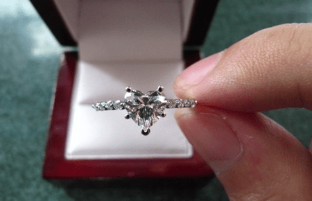 Heart Shaped Diamond Ring Designs Newest Trends