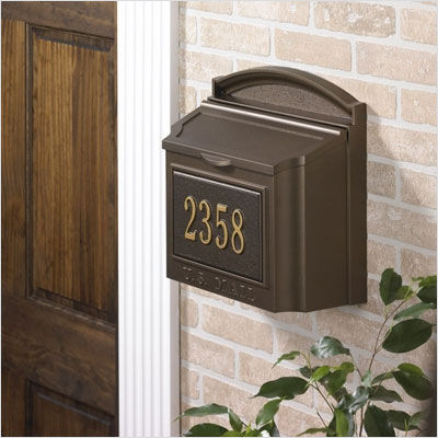 Wall+Mounted+French+Bronze+Mailbox