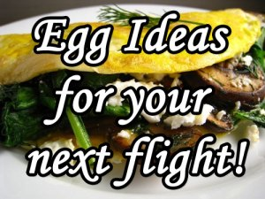 how to make an egg on a private jet, airplane, bendict and scrambled