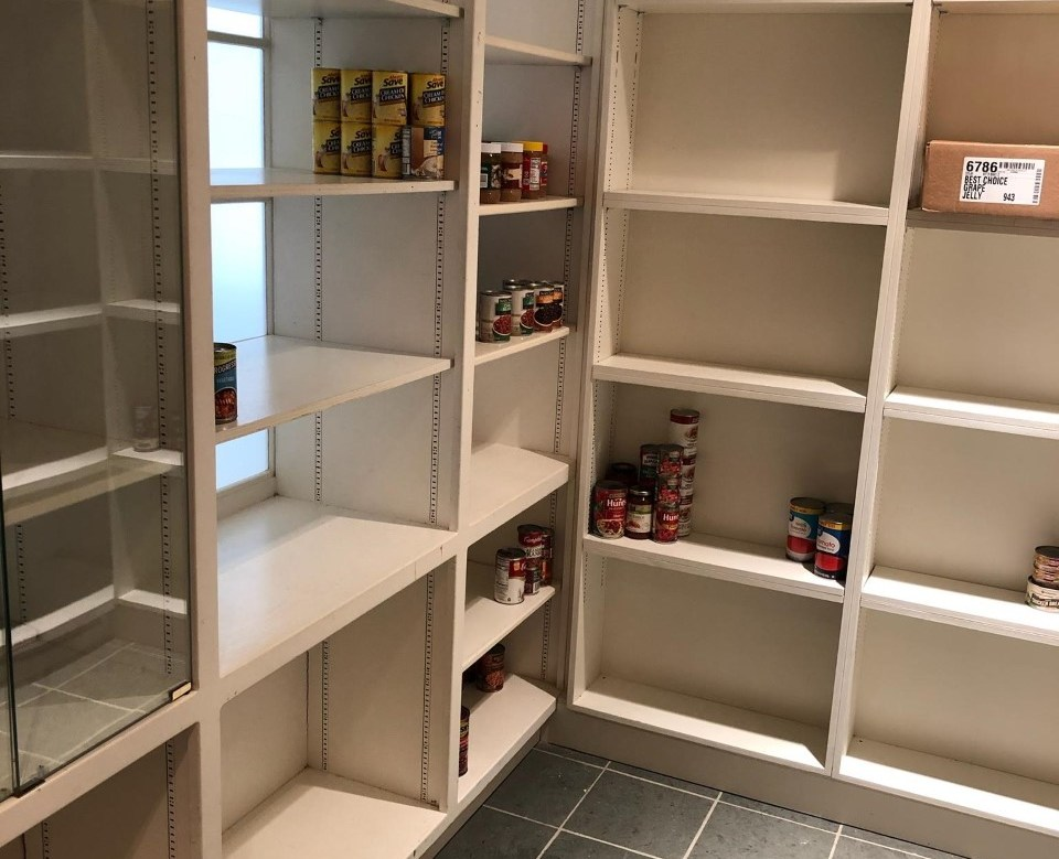 Our empty food pantry