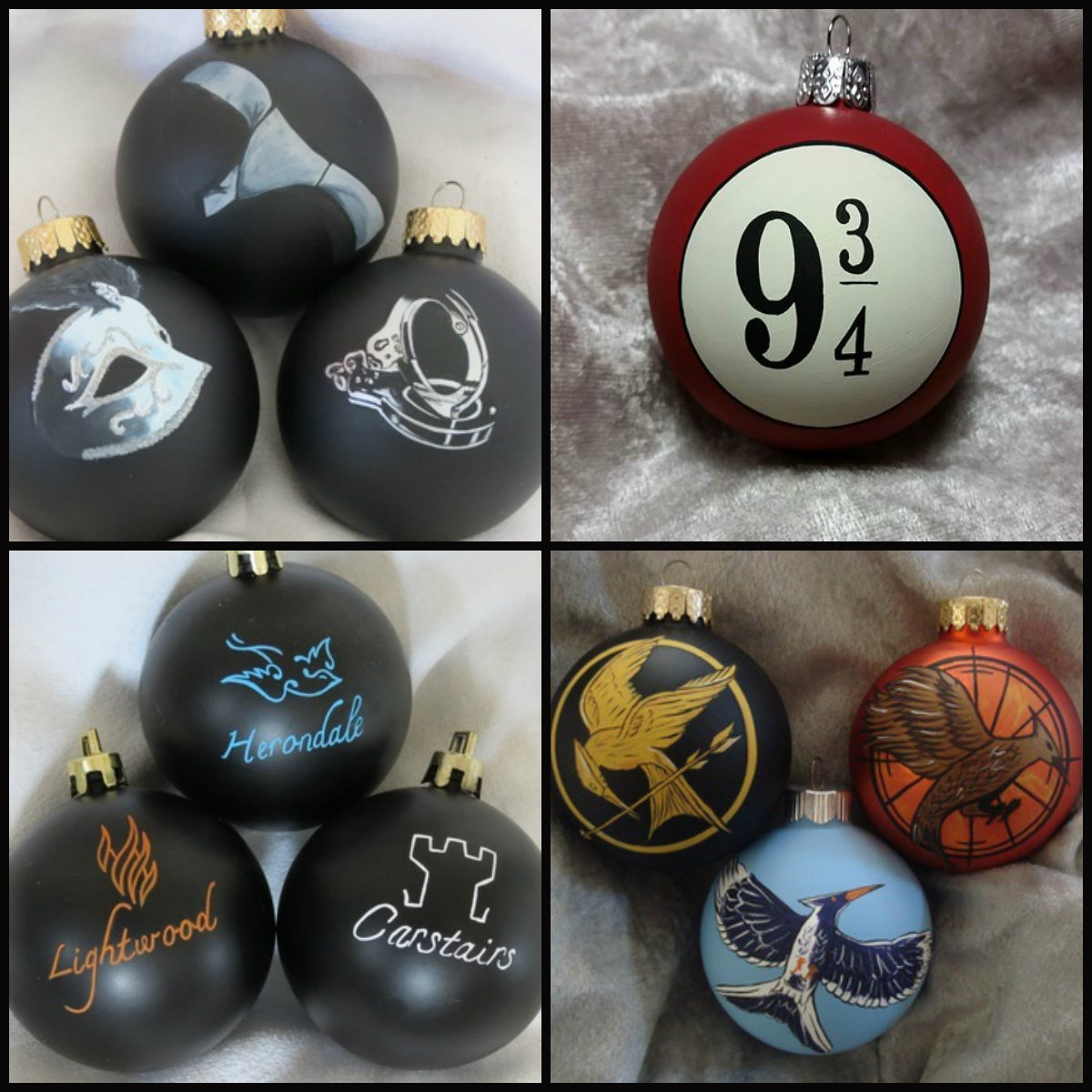 Harry potter christmas ornament - The Hunger Games Fifty Shades Harry Potter The Mortal Instruments Ornaments Obsessions Are A Speciality For Totally Obsessed And Why Would It Not Extend To