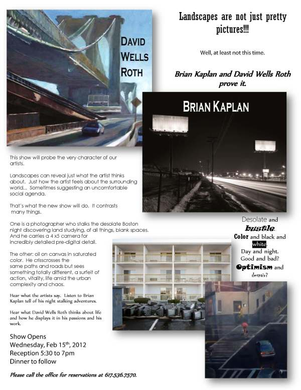 David Wells Roth And Brian Kaplan Exhibition 2012