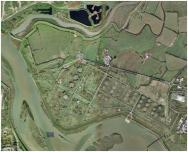 Here is the area we explored (marked with 'A') over to the west of the former refinery site, Morrisons can be seen in the bottom right