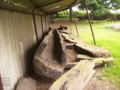 Dutch Waterways from Cornelius made from Elm Trees excavated in the 1970s, now at the Dutch Cottage Museum