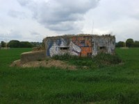 A pillbox on the airfield site seen by BTP