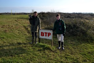 The sign used for the BTP logo after photo-shopping. Our original logo by Alex Evans