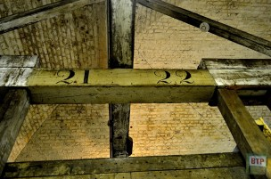 Original numbering on the US-imported rafters