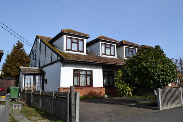 One of the bungalows today with a second floor added