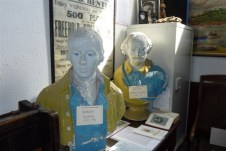 Two busts that stood in 'Poets Corner' of the Winter Gardens, today in the Canvey Heritage Centre