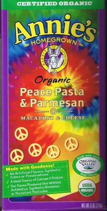 annies peace pasta box