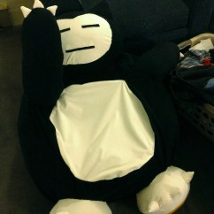 Snorlax Bean Bag Chair Upholstery For Chairs Yay It Is Done Beyond Defaults