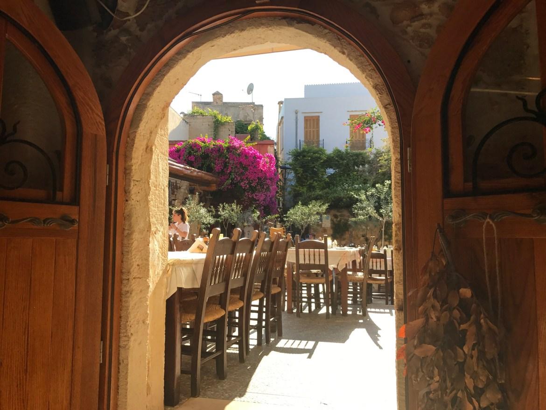 A restaurant in Crete- Beyond Eden Travel