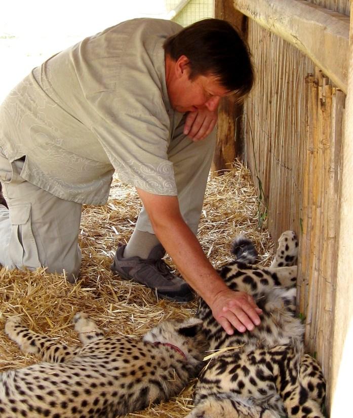 wine tasting petting cheetahs