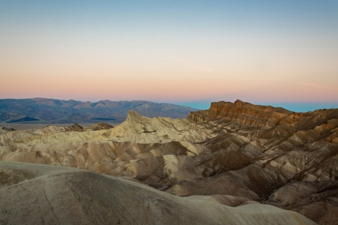 Death Valley Zabriskie Point at sunrise