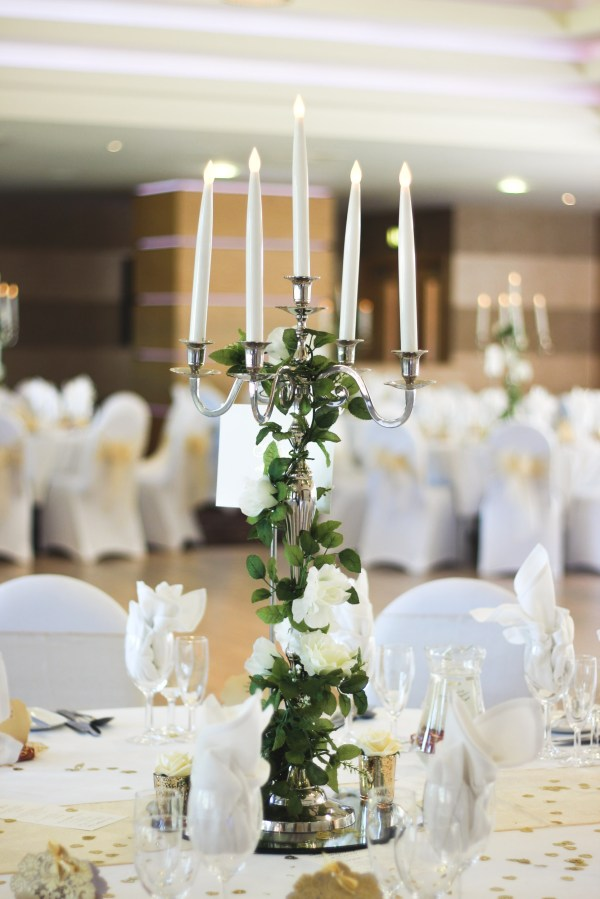 Silver Candelabras - Expectations Weddings & Events