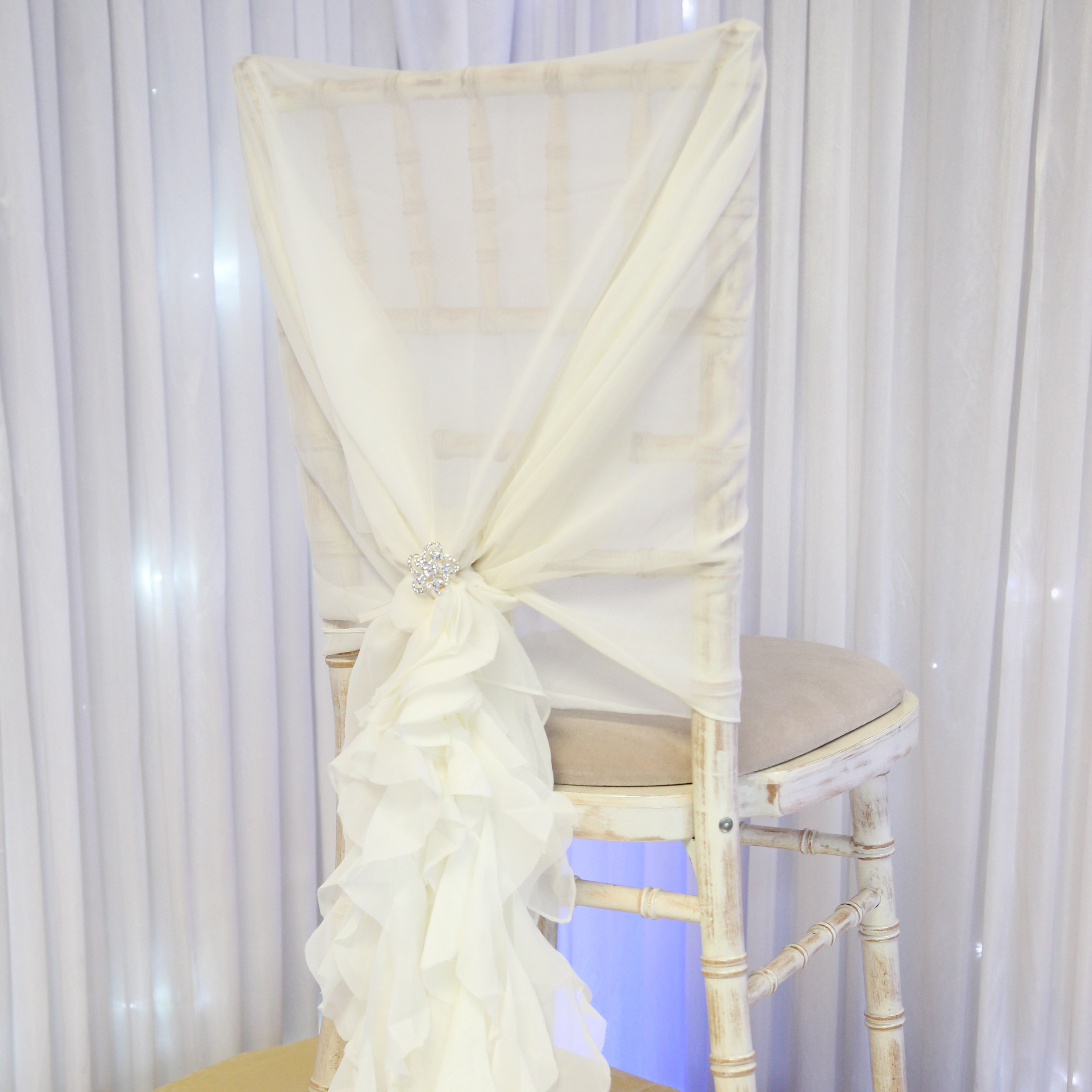 ruffle chair sashes orange outdoor cushions chiffon hoods with a beyond expectations