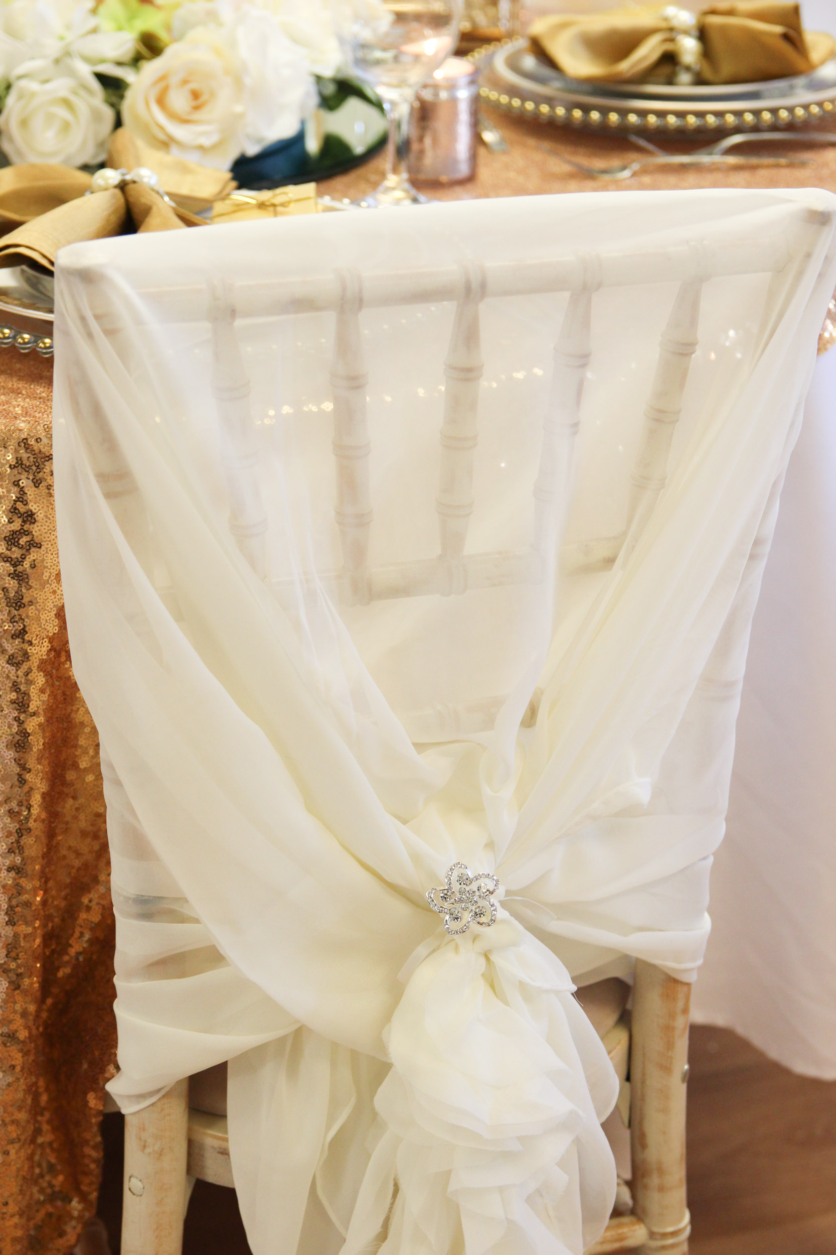 ruffle chair sashes material to recover dining room chairs chiffon hoods with a beyond expectations