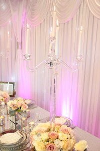 Glass Candelabra - Beyond Expectations Weddings & Events